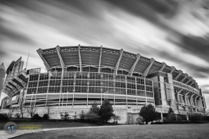 Cleveland Browns Stadium B&W