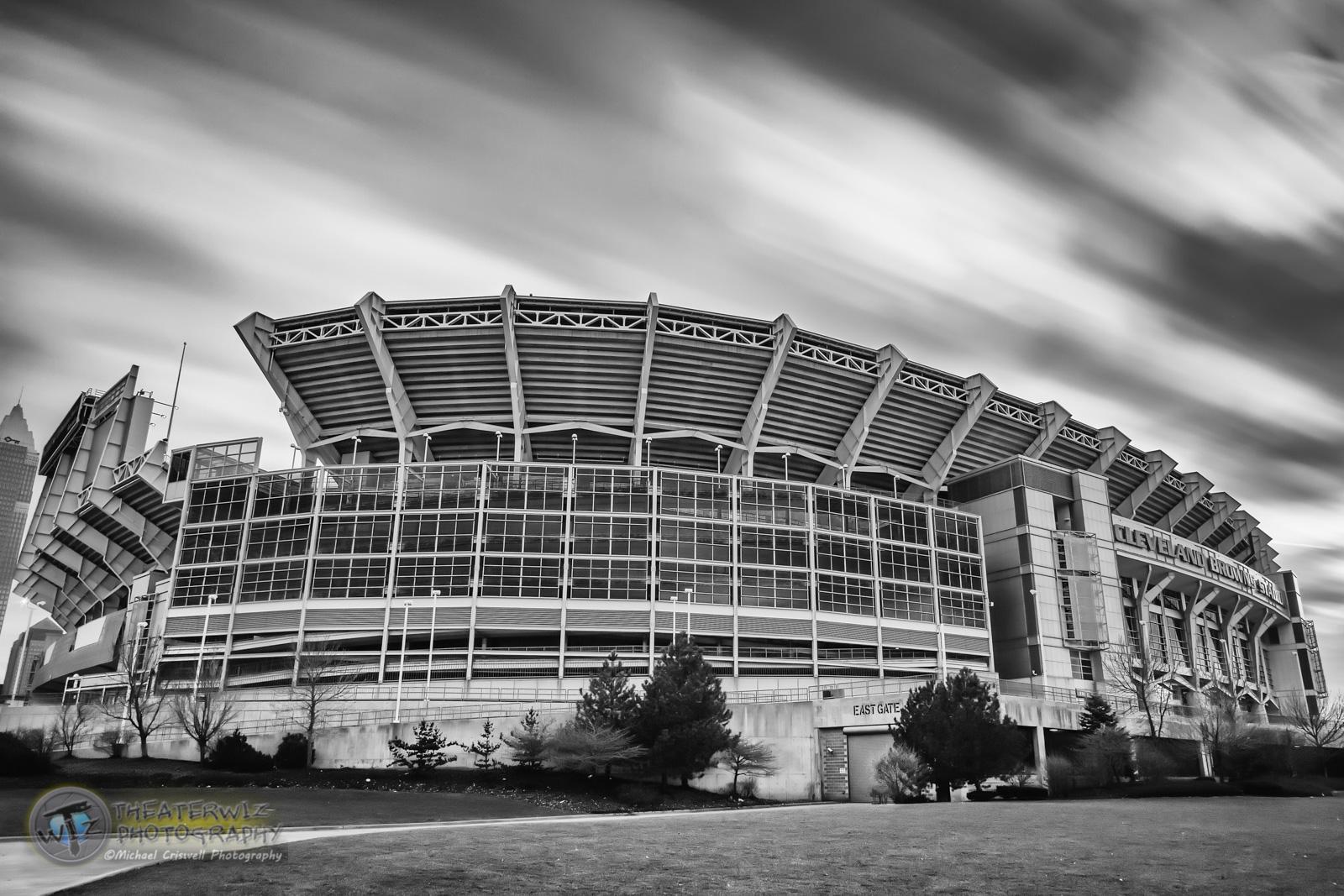 Cleveland Browns Stadium B&W