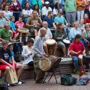 Drum Circle Friday in Asheville