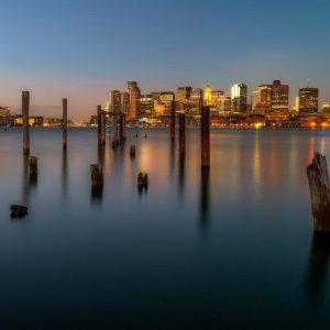 First Light at Carlton Wharf –  Boston